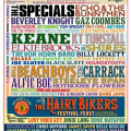 The Beach Boys, Hothouse Flowers, Paul Carrack, Alfie Boe, Chris Difford and The Stax Band with Sam Moore