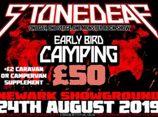 STONEDEAF PRODUCTIONS LTD PROUDLY PRESENTS STONEDEAF 2019