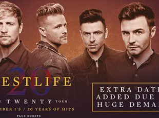 WESTLIFE RETURN WITH THE TWENTY TOUR TO CELEBRATE 20 YEARS OF WESTLIFE